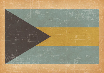 Bahamas Flag On Old Grunge Background - бесплатный vector #429647