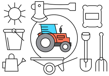 Free Linear Farming Icons - vector gratuit #429697