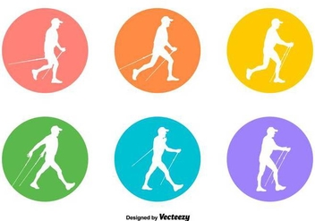 Vector Nordic Walking Signs - Free vector #429817