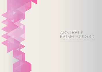 Abstract Prism Background and Text Template - vector gratuit #429887