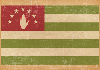 Abkahazia Flag on Grunge Style Background - Free vector #429897