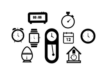 Free Time Icon Vector - vector #429907 gratis