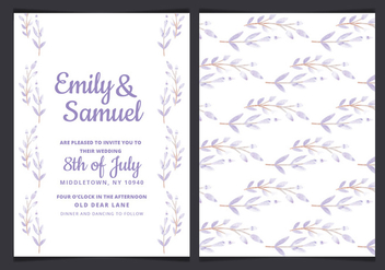 Vector Wedding Invitation with Watercolor Branches - Free vector #429917
