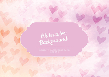 Vector Feminine Watercolor Background - бесплатный vector #429927