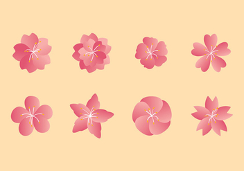 Peach Blossom Set Free Vector - Free vector #429937