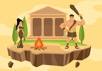 Hercules Cartoon Free Vector - vector gratuit #429947