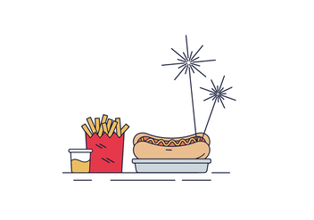 Free Hot Dog Vector - vector gratuit #429957