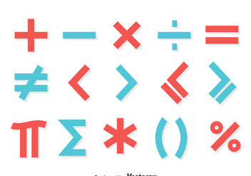 Red And Blue Math Symbol Vector - Free vector #430007