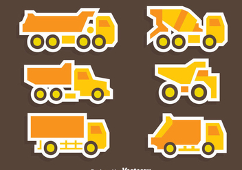Great Yellow Trucks Collection Vector - Free vector #430027