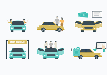 Carpool Element Vector Collection - Free vector #430047