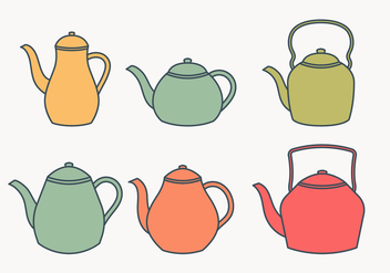 Teapot collection - vector #430057 gratis