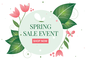 Free Spring Flower Wreath Background - Kostenloses vector #430067
