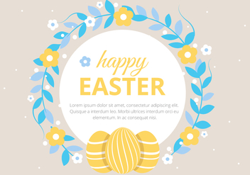 Free Easter Holiday Vector Background - vector #430077 gratis