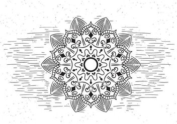 Free Mandala Vector Flower Illustration - Free vector #430097
