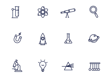 Science Icons - Free vector #430117