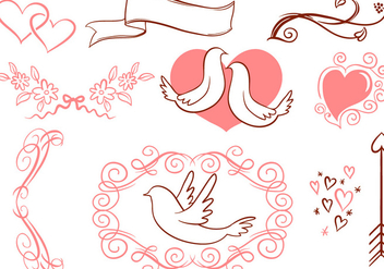 Free Romantic Vectors - бесплатный vector #430137
