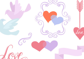 Free Romantic Vectors - бесплатный vector #430147