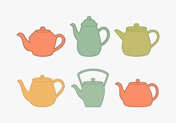 Polkadot Teapot Collection - бесплатный vector #430187