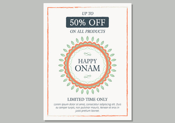 Onam Sale Poster Template - Free vector #430197