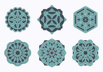Islamic Ornaments Set - Kostenloses vector #430207