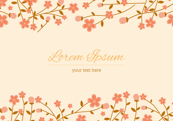Peach Blossom Background - vector #430217 gratis