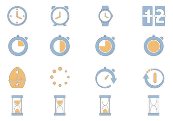 Timer Icon Vector Pack - vector #430307 gratis