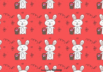Easter Bunny Vector Pattern - бесплатный vector #430377