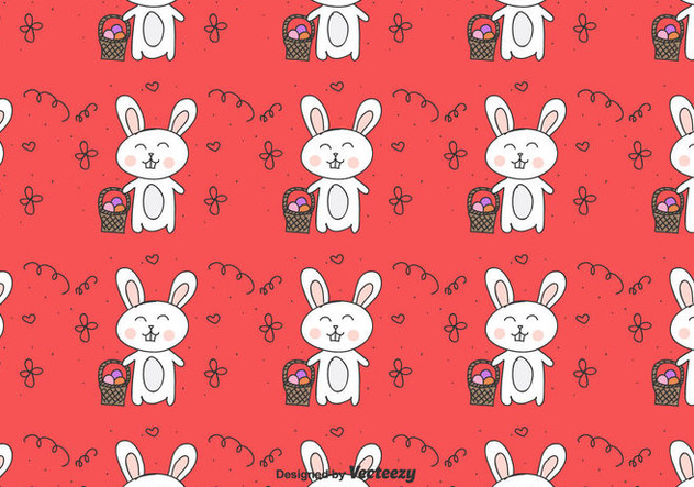 Easter Bunny Vector Pattern - Free vector #430377