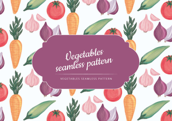 Vector Hand Drawn Vegetables Pattern - Kostenloses vector #430457