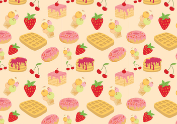 Free Sweets Pattern Vectors - бесплатный vector #430487