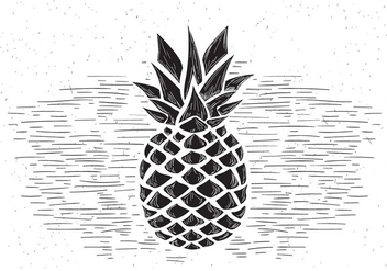 Free Vector Pineapple Illustration - Free vector #430527