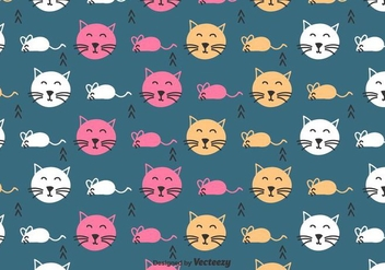 Cat And Mouse Pattern - бесплатный vector #430557