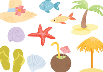 Free Beach Sea Vectors - Free vector #430567