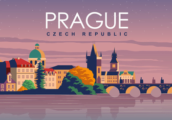 Prague Travel Poster - Kostenloses vector #430577