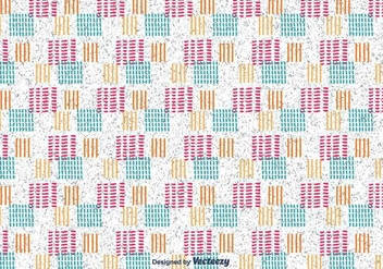Hand Drawn Square Pattern - vector #430597 gratis