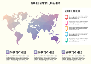 Free World Map Infographic Vector - vector #430677 gratis