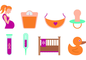 Set Of Maternity Icons - vector gratuit #430687