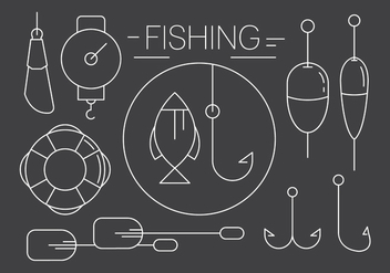 Free Linear Fishing Icons in Minimal Style - vector gratuit #430697