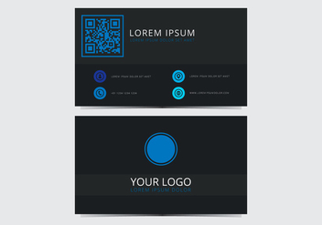 Blue Stylish Business Card Template - vector gratuit #430717