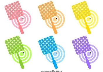 Vector Collection Of Fly Swatter Icons - Free vector #430737