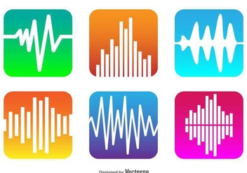Vector Sound Bars Icons - vector #430747 gratis