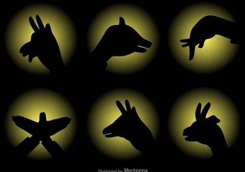 Vector Shadow Puppets Set - Free vector #430757