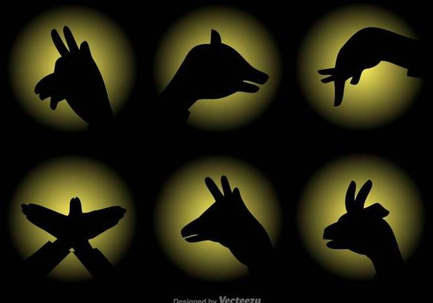 Vector Shadow Puppets Set - vector gratuit #430757
