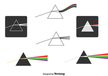 Prism And Light Rays Vector - Free vector #430777
