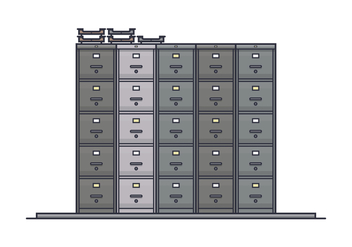 Stack of File Cabinet Vectors - vector gratuit #430807
