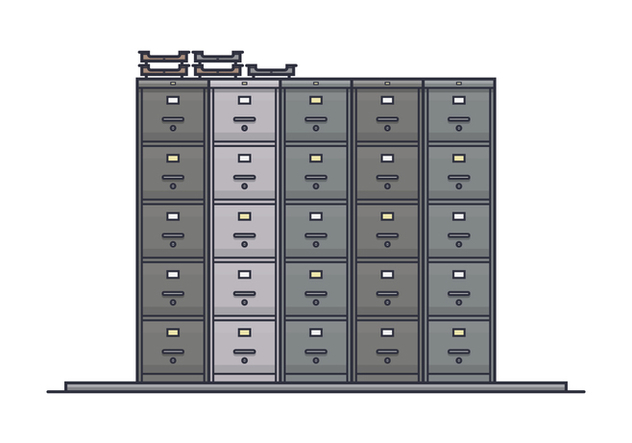 Stack of File Cabinet Vectors - Free vector #430807