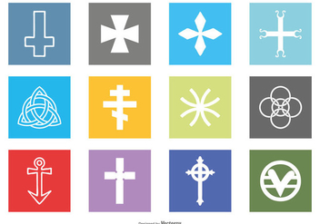 Religious Symbols Icon Set - Free vector #430827