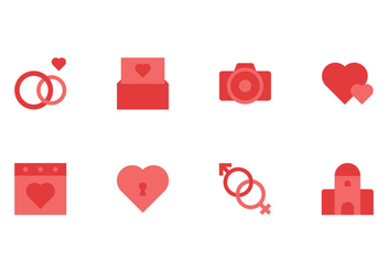 Wedding Icon Set - бесплатный vector #430887