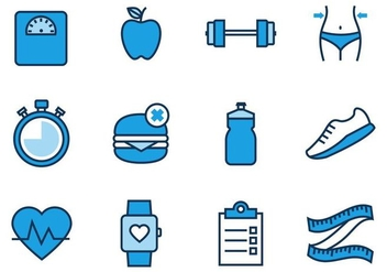 Free Health and Fitness Icons Vector - vector #430897 gratis