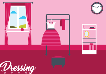 Girl Dressing Room Vector - бесплатный vector #430917